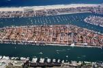Harbor, Docks, Boats, rooftops, homes, houses, buildings, Island, sand, beach, ocean