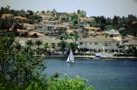 Docks, Sailboats, Homes, Lakeshore, Lake, water, buildings, Mission Viejo, CLAV06P09_19