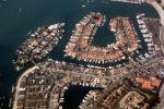 Docks, Boats, harbor, homes, houses, Island, rooftops