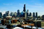 Willis Tower, Skyline, Skyscrapers, Buildings, cityscape, CLCV01P14_17