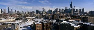 Willis Tower, Panorama, skyline, cityscape, buildings, skyscrapers, CLCV01P15_01