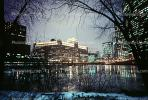 Chicago River, Frozen Over, Twilight, Dusk, Dawn, CLCV02P02_05