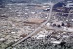 Half Cloverleaf Intersection, Homes, Houses, Suburbia, ice, snow, cold, Frozen, Icy, Snowy, Winter, Wintry, Expressway, interstate, CLCV03P02_11