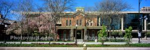 Jane Addams Hull House, Panorama, brick building, cityscape, building, CLCV07P11_10