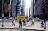 DHL truck, crosswalk, cars, buildings, skyscrapers, highrise, CLCV09P14_17