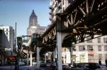 Chicago-El, Elevated, Downtown Loop, CTA, Car, Automobile, Vehicle, September 1962, 1960's, CLCV11P05_07