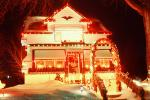 Home, House, Snow, Cold, night, nighttime, decorated, lights, Minneapolis, CLEV01P03_01C