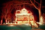 Home, House, Snow, Cold, night, nighttime, decorated, lights, Minneapolis, CLEV01P03_02