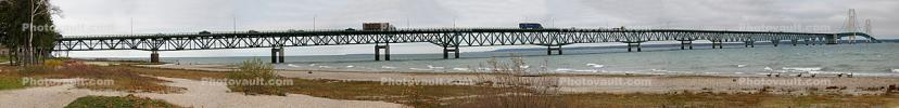 Mackinac Bridge, Straits of Mackinac, Panorama, CLMD01_144