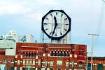 building, huge clock, Colgate, Clarksville, outdoor clock, outside, exterior