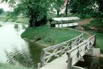 Wooden Bridge, footbridge, stream, lake, path