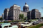 Indiana State Capitol Building, Woman, Cars, 1959, 1950s, CLNV01P15_05