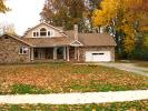 Leaves, Garage, Home, House, Driveway, Sidewalk, autumn, CLOD01_144