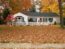 fall colors, Autumn, Trees, Vegetation, Flora, Plants, Exterior, Outdoors, Outside, home, house, single family dwelling unit, building, domestic, domicile, residency, housing, CLOD01_146