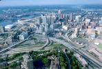Downtown, highways, roads, buildings, Cincinnati, CLOV01P02_07.1711
