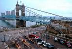 John A. Roebling Suspension Bridge, Car, Automobile, Vehicle, Cincinnati