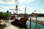 The Santa Maria, Scioto River, Batelle Riverfront Park, Replica Of Columbus Ship, CLOV01P14_10