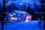 Home, House, Snow, Winter, Washington Island