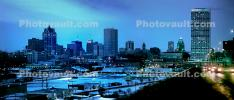 Downtown, Milwaukee, Panorama, CLWV01P05_07B