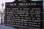 New Orleans Marker, French Quarter, CMLV01P07_05.1729
