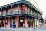 French Quarter, buildings, balcony, CMLV01P07_10