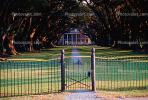 Path, Trees, Walkway, Lawn, Tunnel, Plantation, Antebellum Mansion, Fence, Gate, Oak Alley Plantation, Vacherie, alley, alleyway, CMLV01P09_14.1729
