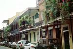 Plants, Balcony, Guardrail, Building, French Quarter