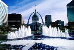 Dome, Saint Louis Historical Old Courthouse, The Gateway Arch, Water Fountain, aquatics, Exterior, Outdoors, Outside, CMMV01P10_01