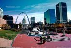 The Gateway Arch, Cityscape, Skyline, Buildings, Skyscraper, Downtown, Outdoors, Outside, Exterior, CMMV01P10_17.1729