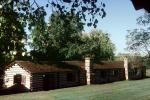 Fortress, buildings, log cabins, Old Fort Gibson, Muskogee County
