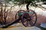 Civil War Cannon, River, Artillery, gun, overlooking Chattanooga, Lookout Mountain, battlefield