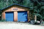Aurorarama, Firehouse Theater, building, landmark, garage doors, Log Cabin