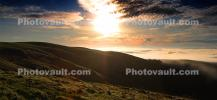 Hills, Fog, Morning, Clouds, Two-Rock, Panorama, CNCD02_001