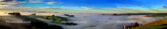 Hills, Fog, Morning, Clouds, Valley, Panorama, CNCD02_002