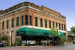 brick building, downtown, awning, CNCD03_085