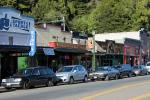 River Road, Highway 116, shops, stores, buildings, cars