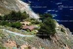Pacific Ocean, Shoreline, Coastlline, Coast, Home, House, Cliff, Big Sur, CNCV02P05_09.1731