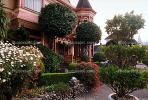 Gingerbread Mansion, Victorian Building, Gardens, Manicured Bushes, Shrubs, CNCV02P08_14.1731