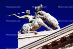 Naked Man Statue, Horse, Spear, Bear, fight, battle, State Capitol