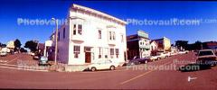 Shops, Stores, Cars, Town of Mendocino, Panorama, CNCV04P03_18