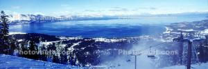 Heavenly Valley, ski lifts, South Lake Tahoe, Panorama