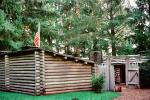 Log Cabin, Fort Clatsop National Memorial, Lewis and Clark Expedition