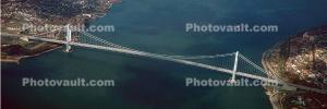 Verrazano Narrows Bridge, Interstate Highway I-278, Suspension Bridge, Panorama, CNYV01P10_07B