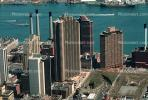 buildings, midtown Manhattan, smokestacks, boats, East River, East-River, CNYV02P01_08.1734