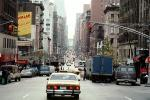 Taxi Cab, automobile, vehicles, cars, buildings, Manhattan, CNYV02P13_01