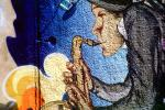 Wall Art, Saxophone player, Lafayette Blvd, Manhattan, CNYV03P04_01