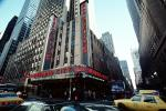 Radio City Music Hall, Taxi Cab, Car, Vehicle, cars, traffic, automobile, vehicles, CNYV03P06_10