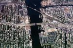Long Beach Blvd Bridge, Railroad Point, Island Park, Urban Texture, homes, houses, buildings, docks, pier, uptown, Bronze