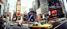 Times Square, Panorama, Buildings, cityscape, cars, winter, wintertime, automobile, vehicles, CNYV05P08_01