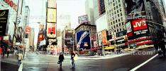 Times Square, Panorama, Buildings, cityscape, cars, winter, wintertime